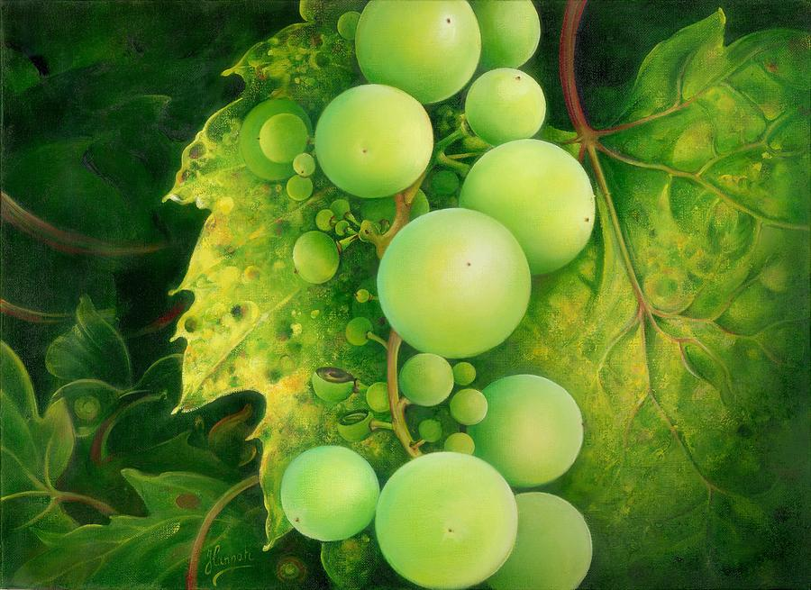 Fruit Painting - The Grapes by Anna Ewa Miarczynska