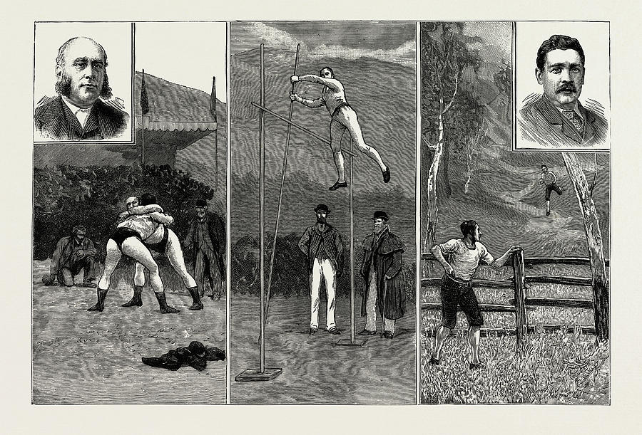 Grasmere Drawing - The Grasmere And Lake District Sports, Westmorland by Litz Collection