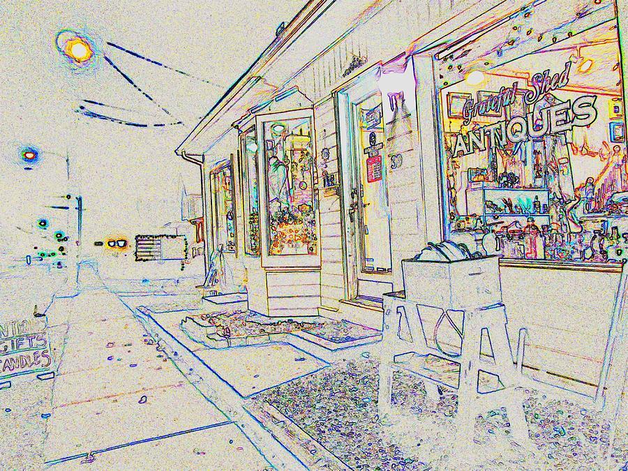 Shop Photograph - The Grateful Shed - Antique Store by Susan Carella