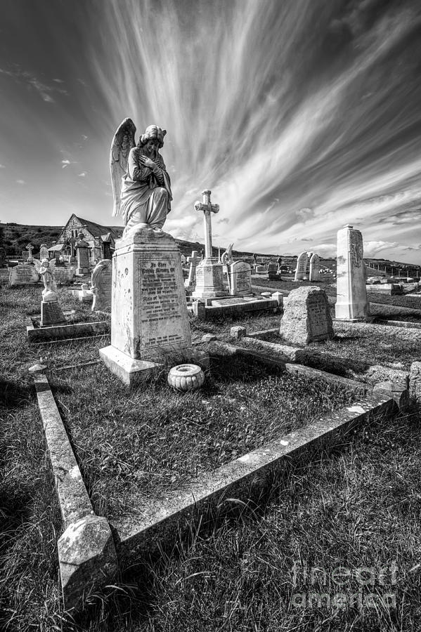 Angel Photograph - The Graveyard by Adrian Evans