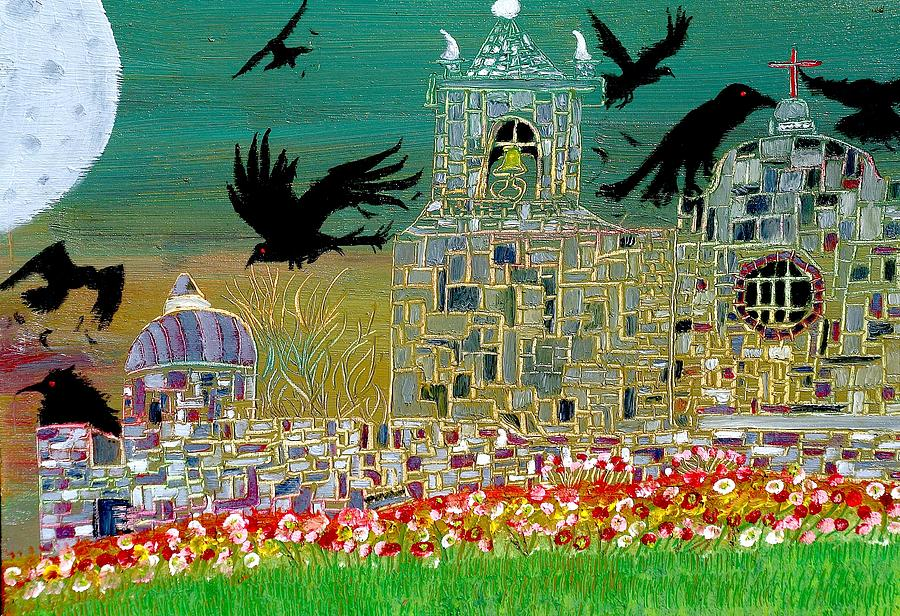 Ravens Painting - The Graveyard  by Tyler Schmeling