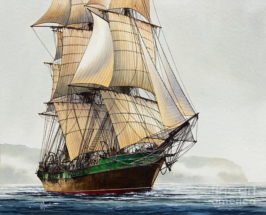 Tall Ship Painting - The Great Age Of Sail by James Williamson
