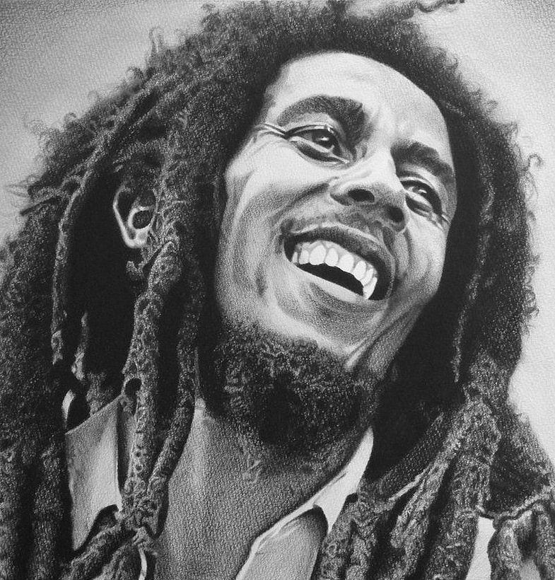 The Great Bob Marley Painting By Dr Robert Simba Makoni