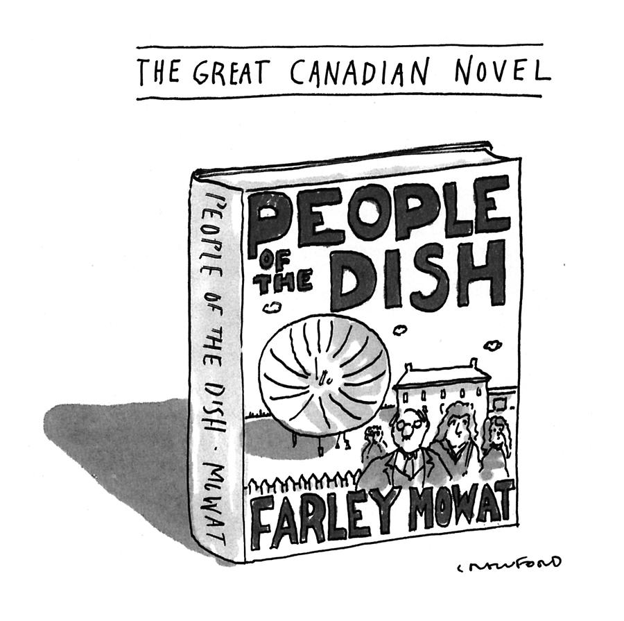The Great Canadian Novel Drawing by Michael Crawford