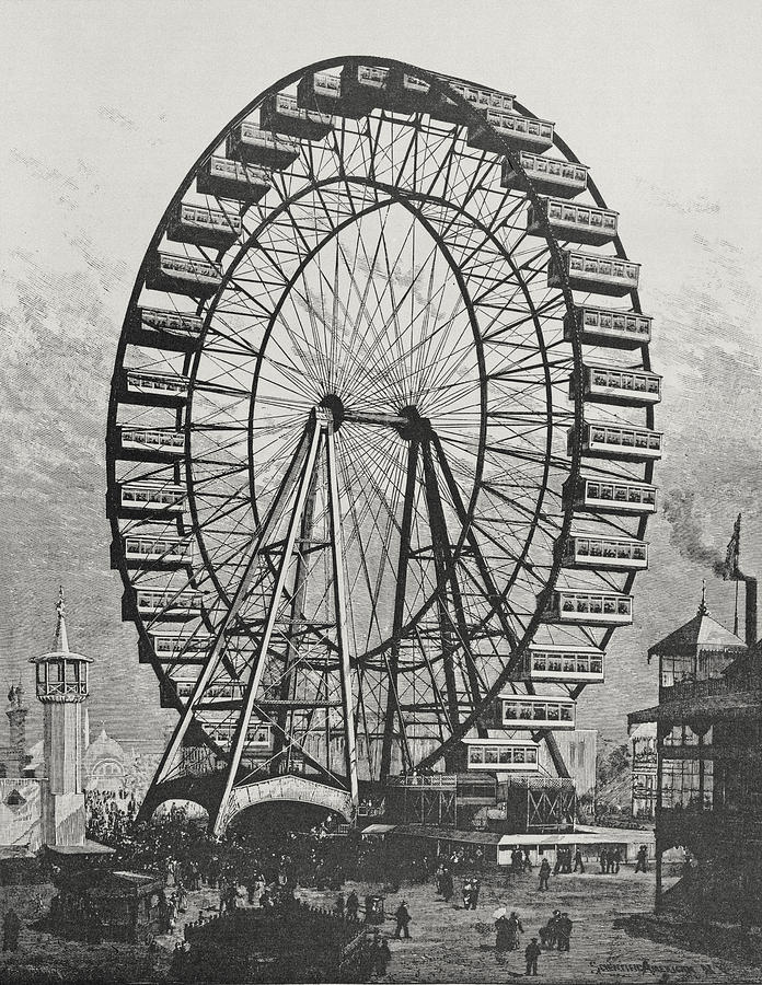 The Great Ferris Wheel In The World Columbian Exposition ...