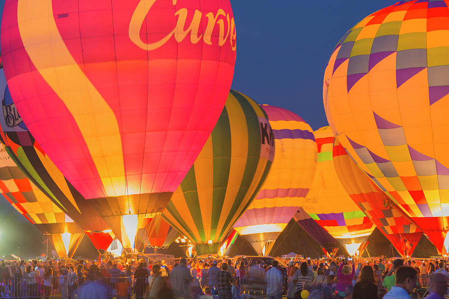 The Great Forest Park Balloon Race Photograph by Eddie Brady