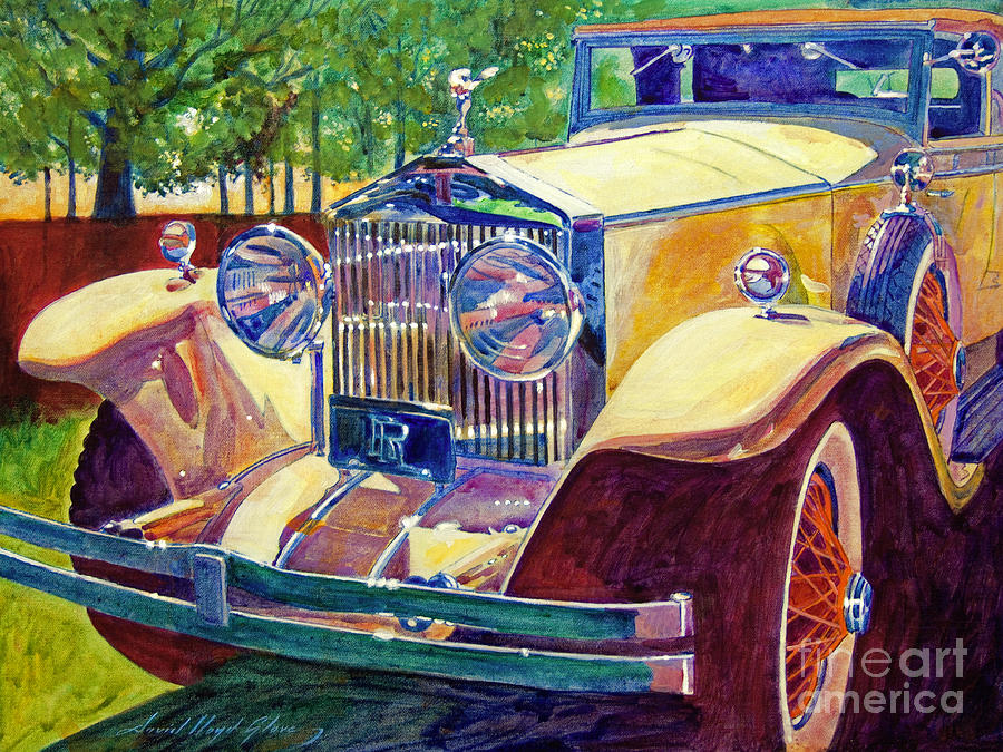 Autos Painting - The Great Gatsby by David Lloyd Glover