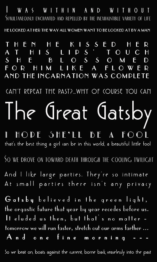 The Great Gatsby Quotes Photograph By Georgia Fowler