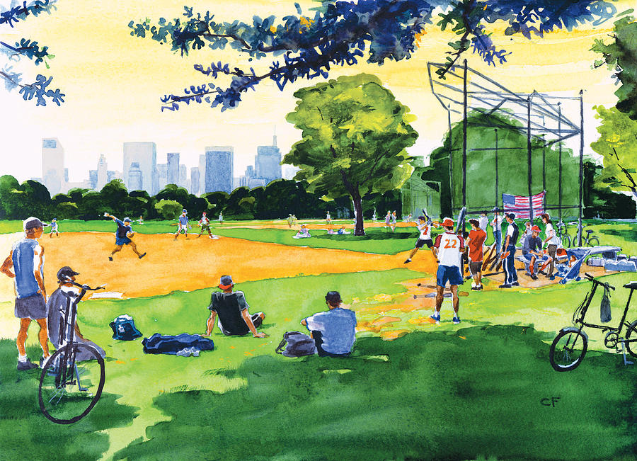 Watercolor Painting - The Great Lawn by Clifford Faust