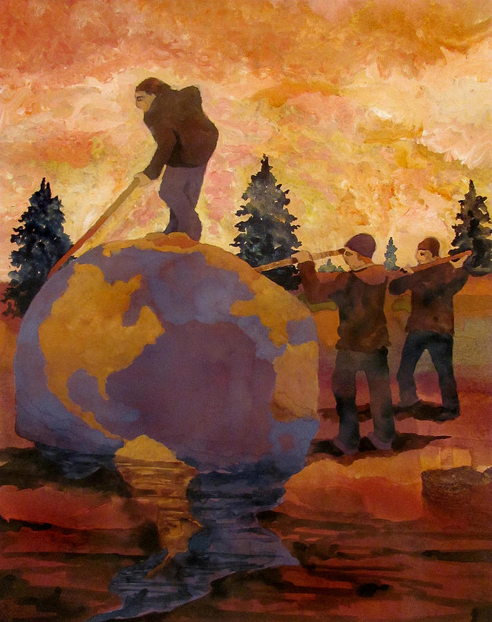 The Great Leap Forward Painting by James Huntley