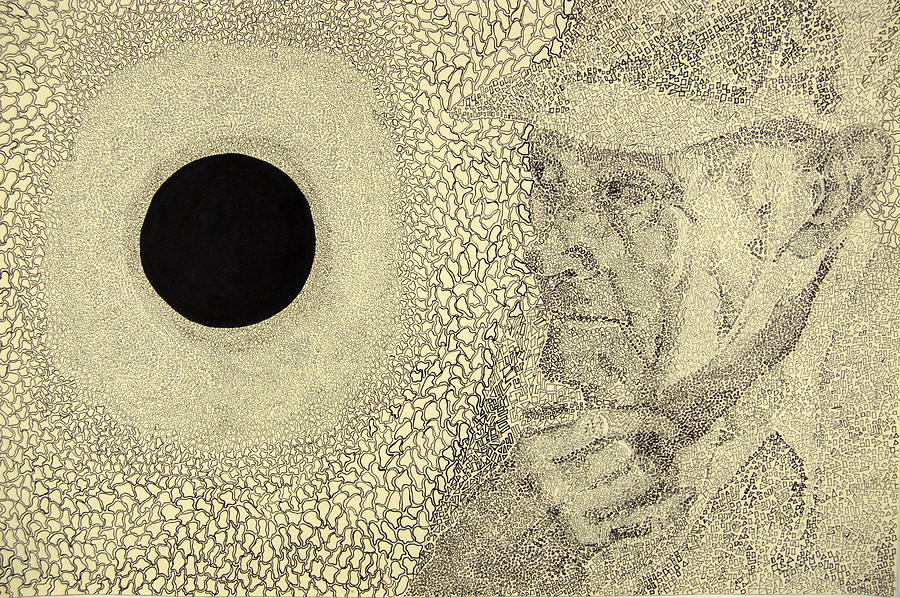 Surrealism Drawing - The Great Ponder by Amy Mackenzie