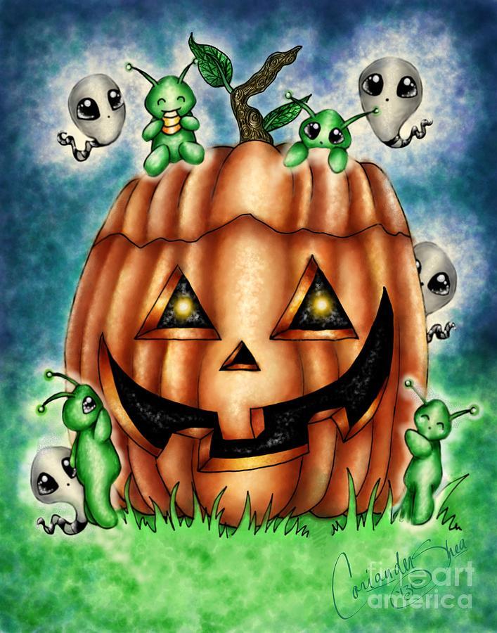 Fantasy Digital Art - The Great Pumpkin by Coriander  Shea
