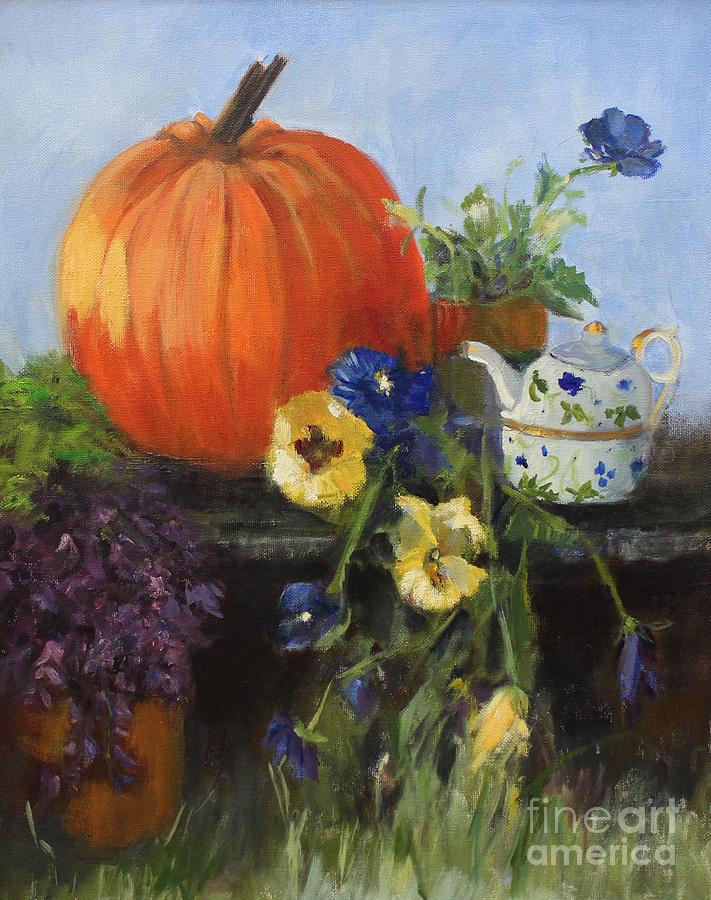 Great Pumpkin Painting - The Great Pumpkin by Sandy Lane