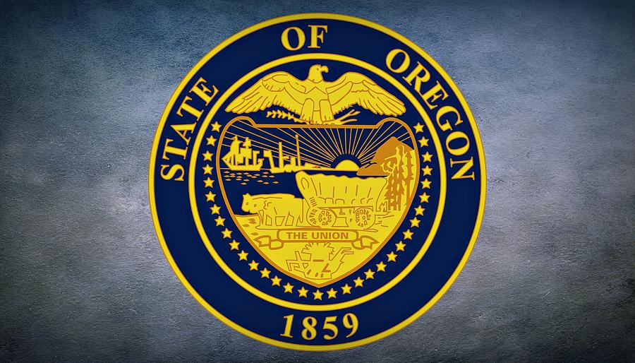 The Great Seal Of The State Of Oregon Photograph by Movie
