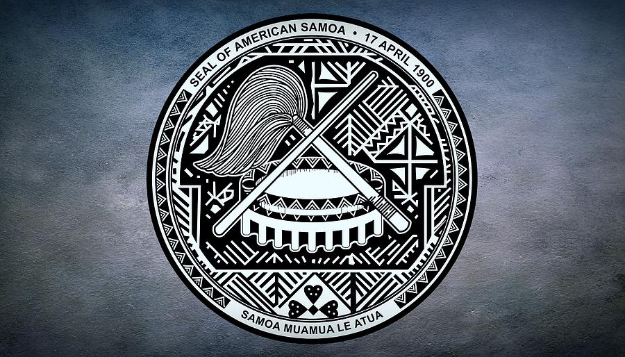 American Samoa Photograph - The Great Seal Of The Territory Of American Samoa by Movie Poster Prints