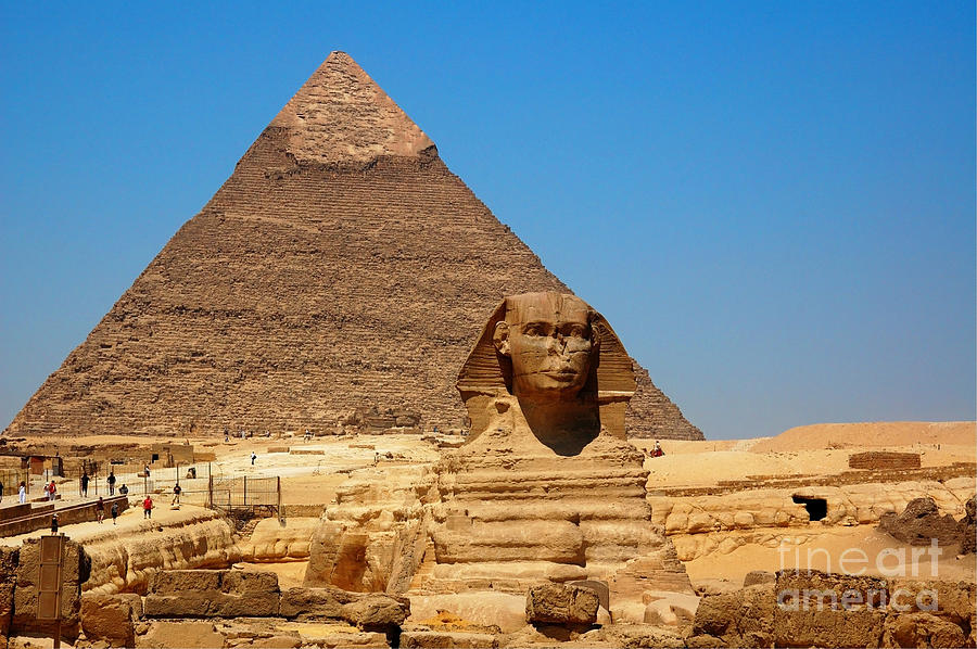 The Great Sphinx Of Giza And Pyramid Of Khafre Photograph ...