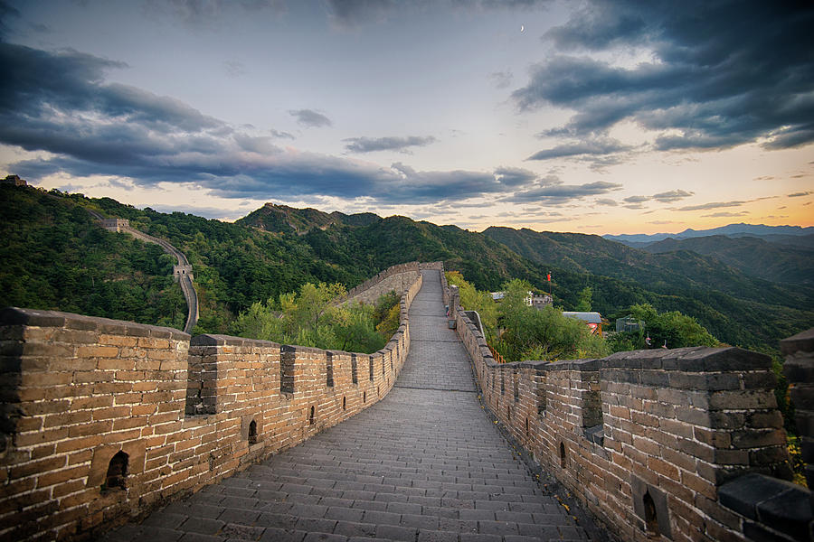 The Great Wall Of China At Sunset Photograph by Emad Aljumah