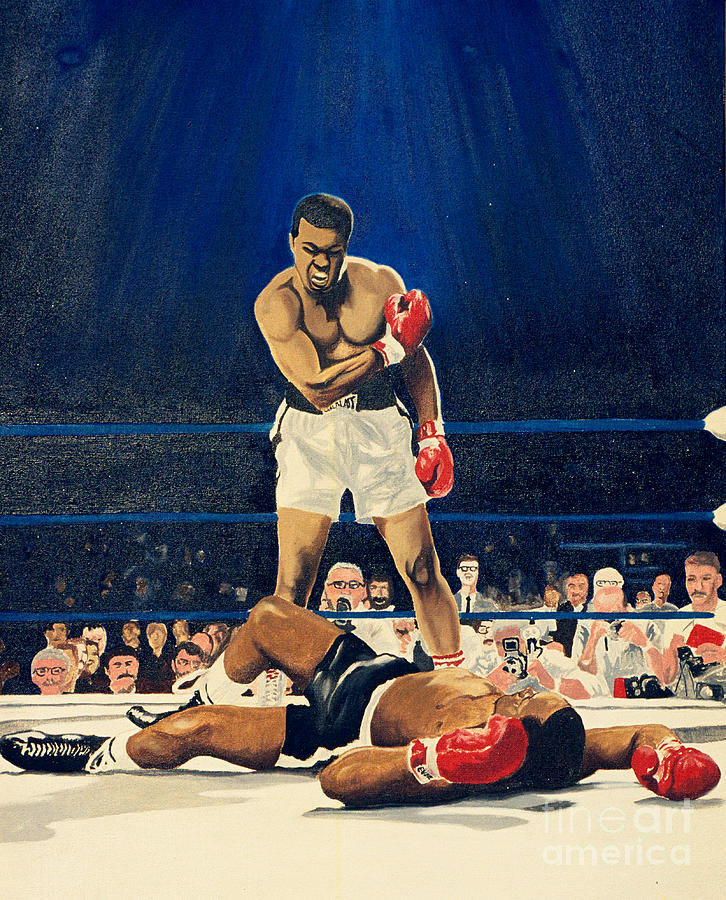 The Greatest Muhammad Ali Painting By Ronald Young