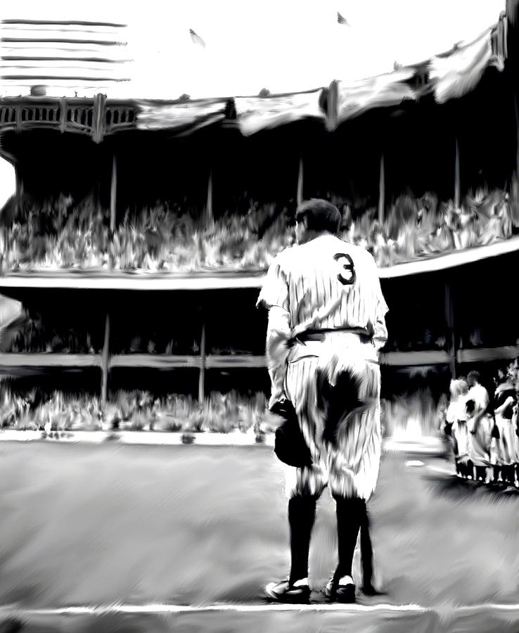 Babe Ruth Painting - The Greatest Of All  Babe Ruth by Iconic Images Art Gallery David Pucciarelli