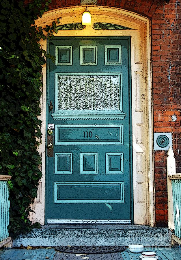 Green Photograph - The Green Door by Kathleen Struckle
