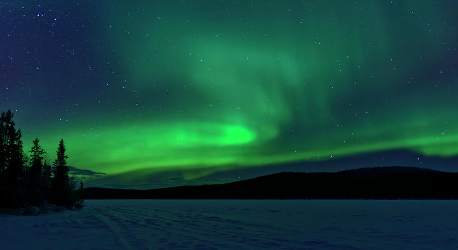 The Green Light Of The Aurora Photograph by Dave Moorhouse