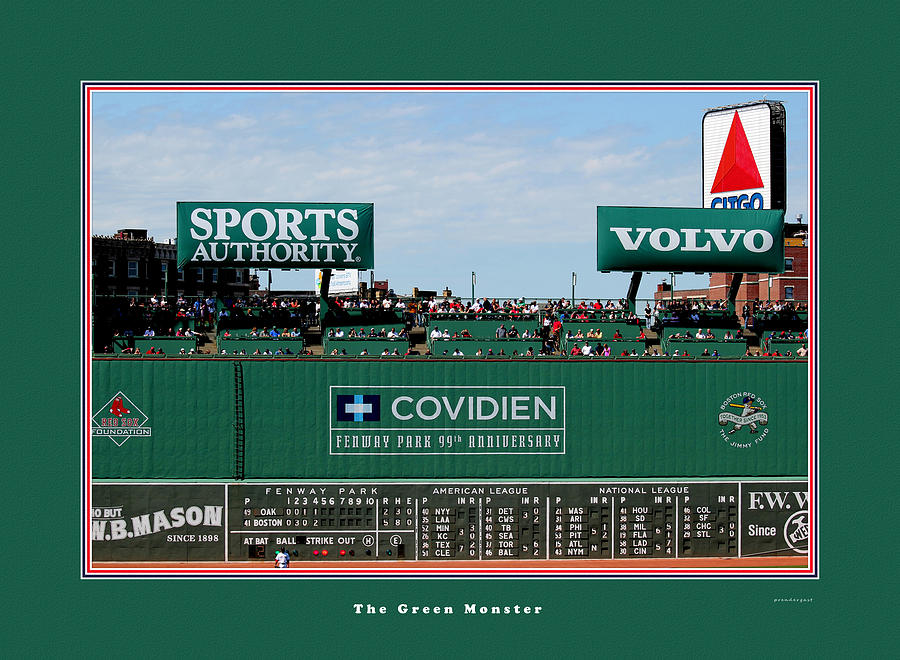 Boston Red Sox Photograph - The Green Monster Fenway Park by Tom Prendergast