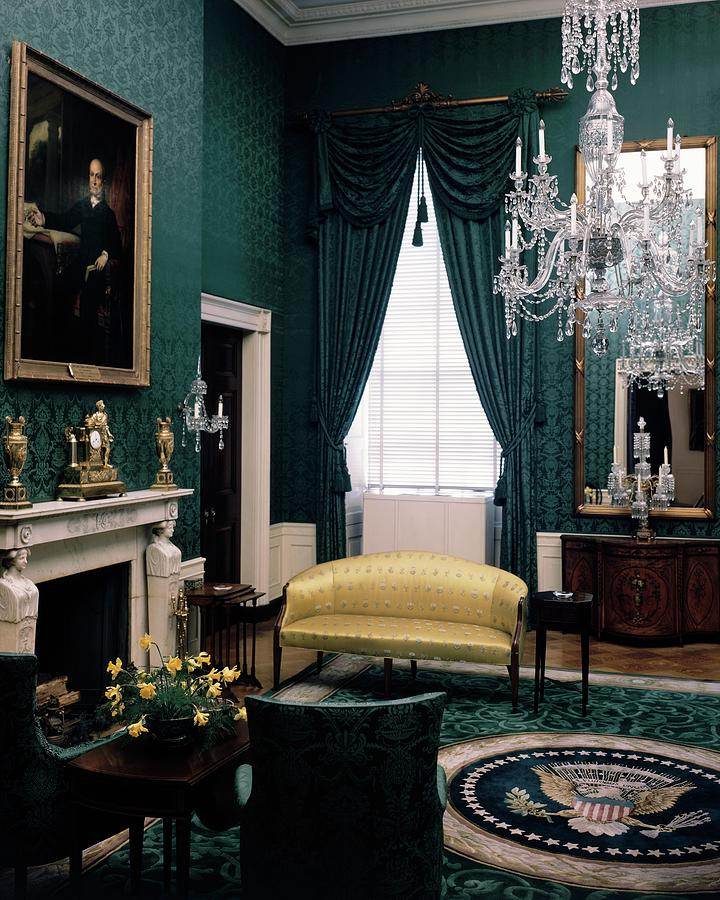 The Green Room In The White House Photograph by Haanel Cassidy