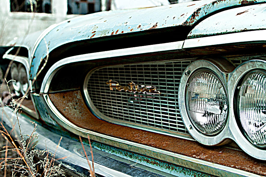 Car Photograph - The Grill by Paula Fankhauser
