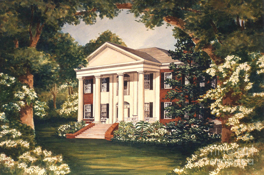 Grove Painting - The Grove Tallahassee Florida by Audrey Peaty
