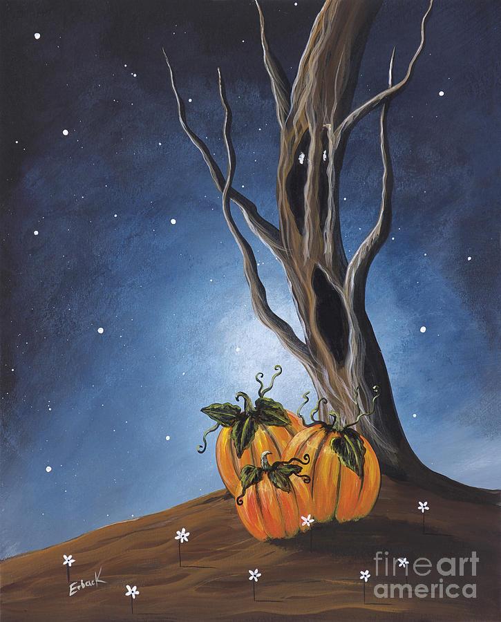 Pumpkins Painting - The Guardian By Shawna Erback by Shawna Erback