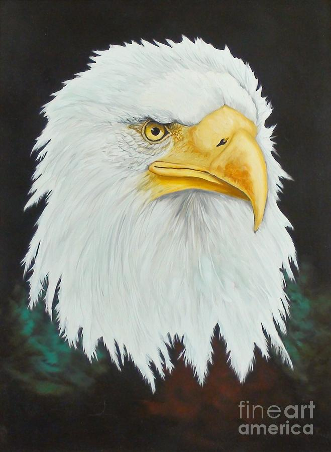 Eagle Painting - The Guardian by Dixie Jack