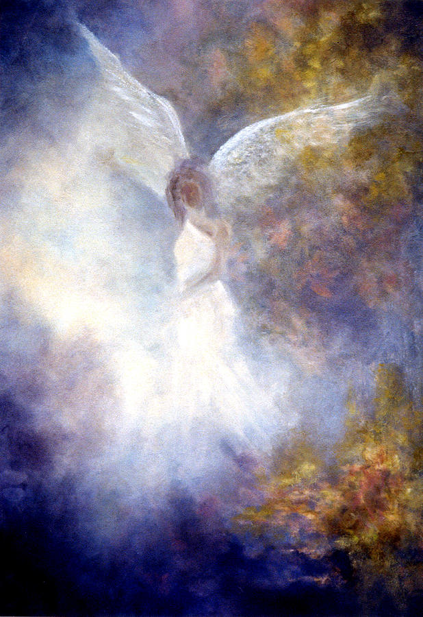 Angel Painting - The Guardian by Marina Petro