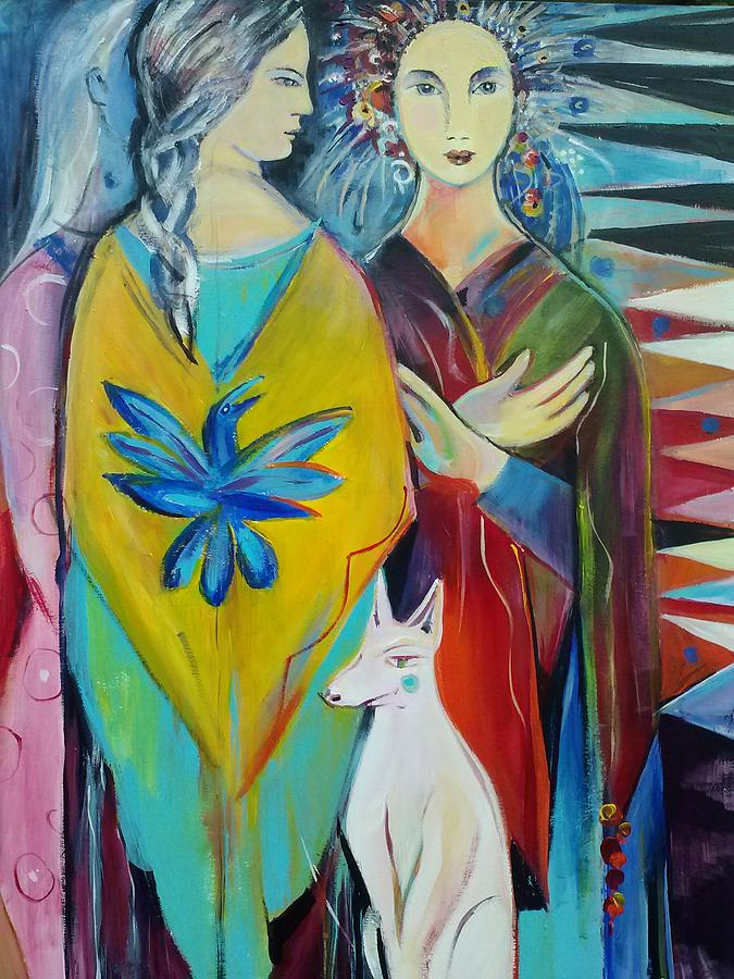 Narrative Painting - The Guardian by Marlene LAbbe