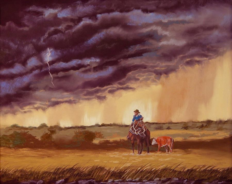 Horses Painting - The Guardian by Tanya Provines