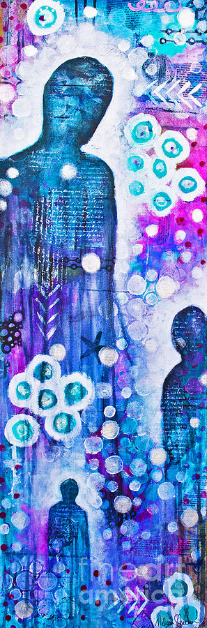 Color Mixed Media - The Guardians by Melissa Sherbon