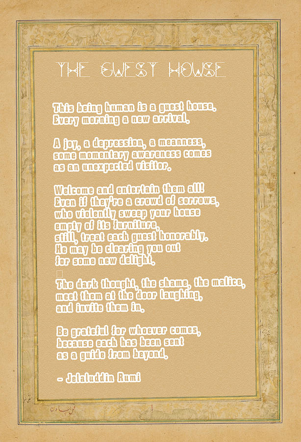 The Guest House Poem By Rumi Digital Art By Celestial Images