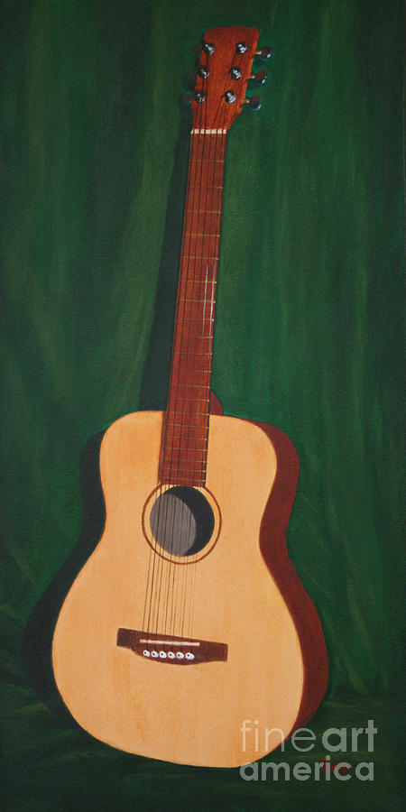 Guitar Painting - The Guitar  by Jimmie Bartlett