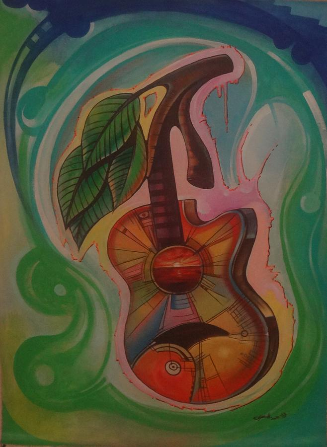 Abstract Painting - The Guitarah by Assaph