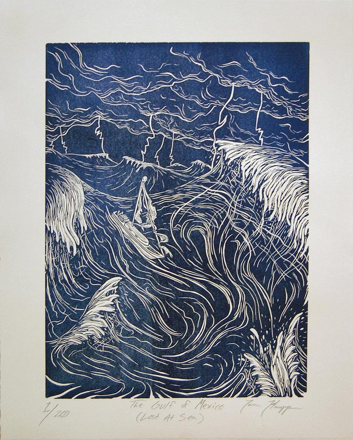 Gulf Relief - The Gulf Of Mexico by Trevor Knapp