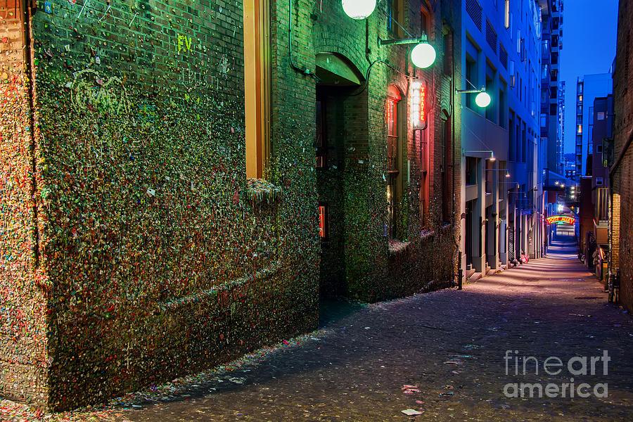 Gum Photograph - The Gum Wall by Eddie Yerkish