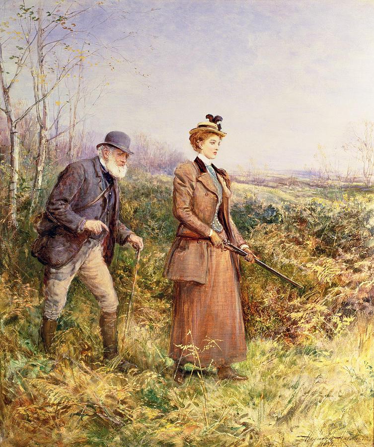 Shooting Painting - The Gun Shot by Heywood Hardy