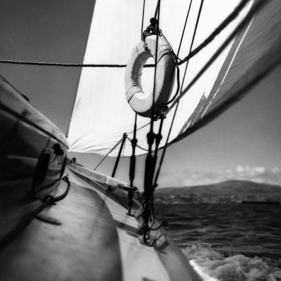 The Gunwale Of A Sailboat Photograph by George Platt Lynes