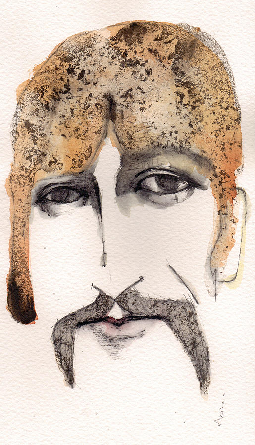 George Harrison Painting - The Guru As George Harrison  by Mark M  Mellon