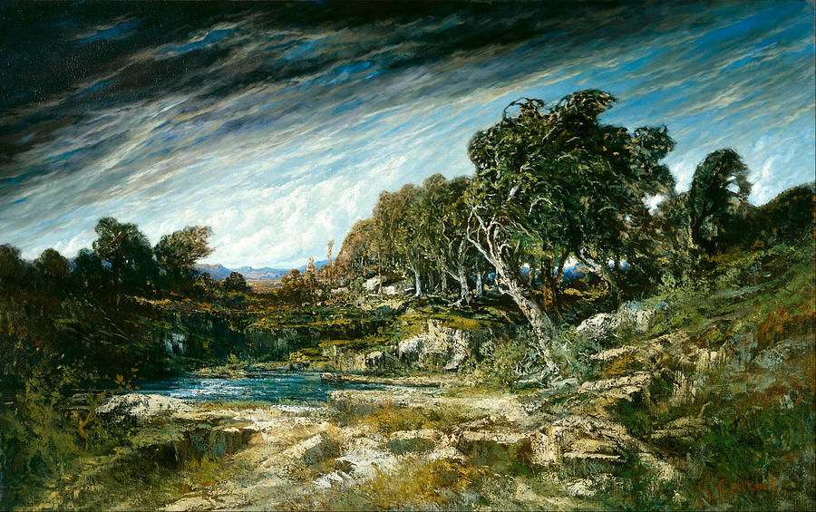Gustave Courbet Painting - The Gust of Wind by Gustave Courbet