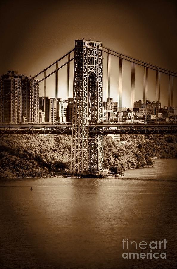Bridge Photograph - The Gwb by Arnie Goldstein