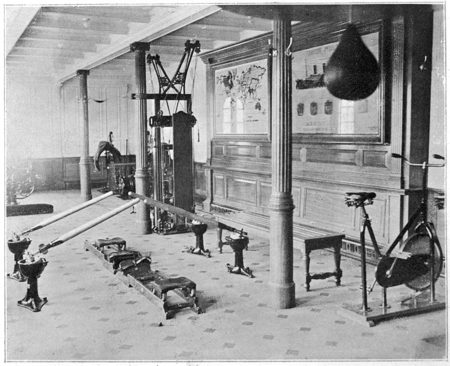 Titanic Photograph - The Gymnasium Of The Titanic by Mary Evans Picture Library