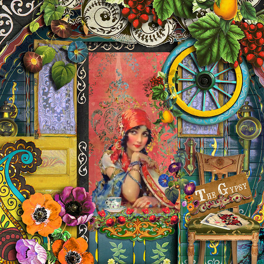 Gypsy Painting - The Gypsy by Laura Botsford