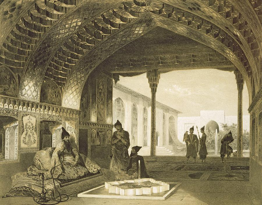 Prince Drawing - The Hall Of Mirrors In The Palace by Grigori Grigorevich Gagarin