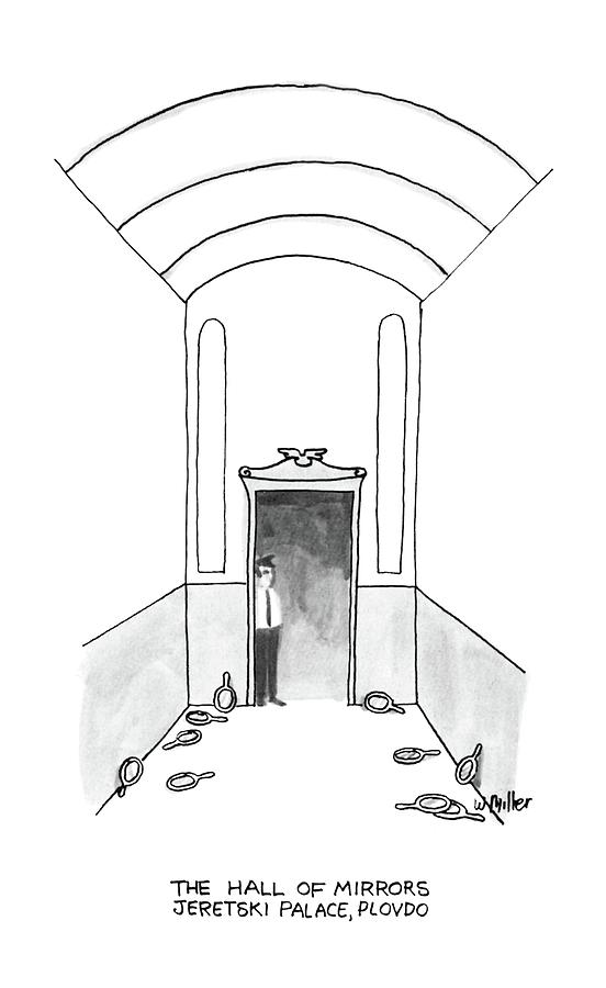 The Hall Of Mirrors Jeretski Palace Drawing by Warren Miller