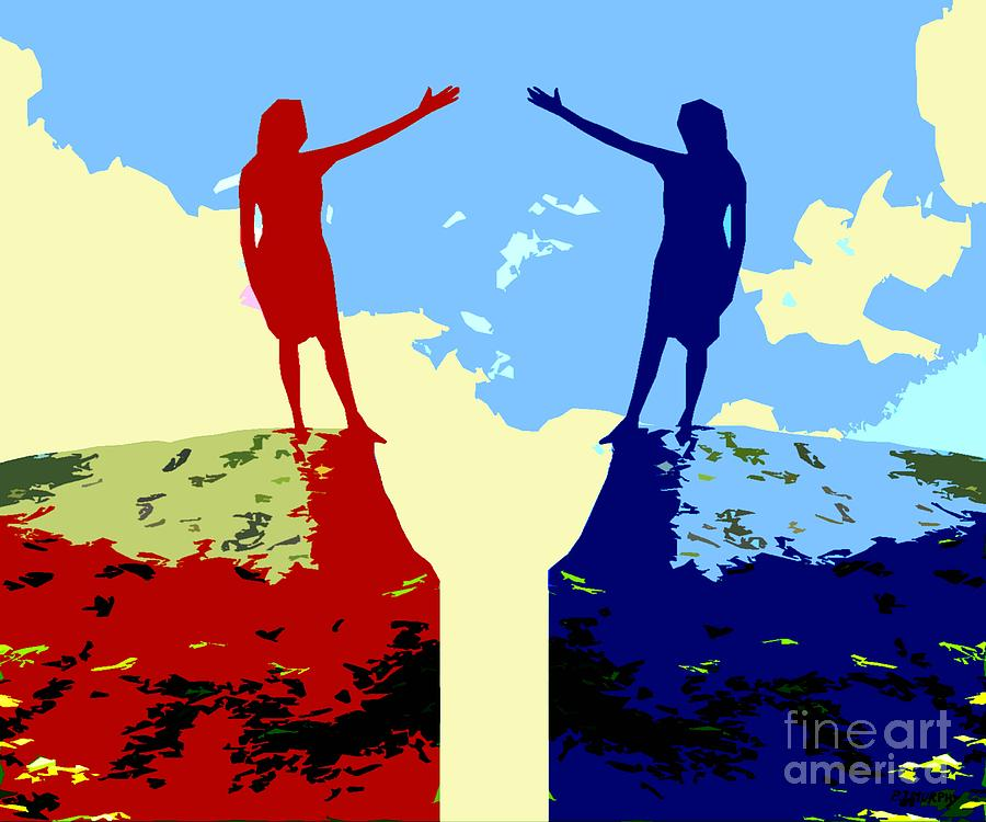 Friends Painting - The Hand Of Friendship by Patrick J Murphy